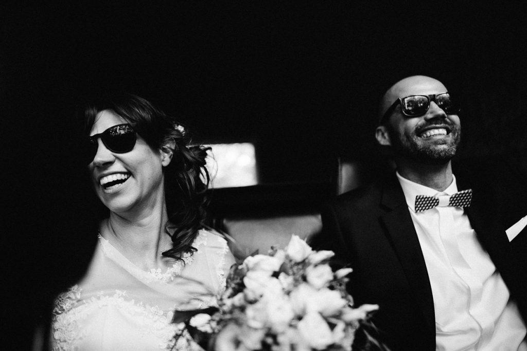 Brautpaar im Cabrio in Potsdam