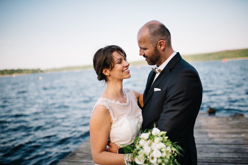 Brautpaar auf der Hochzeit in Potsdam
