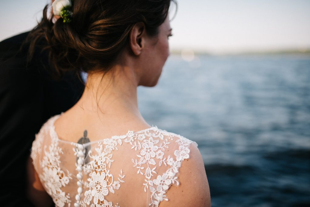 Schulter der Braut - Hochzeit in Potsdam