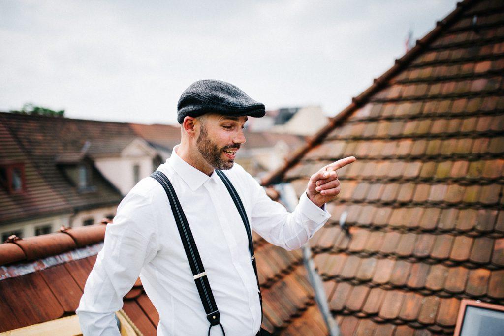 Auf dem Dach bei einer Hochzeit in Potsdam